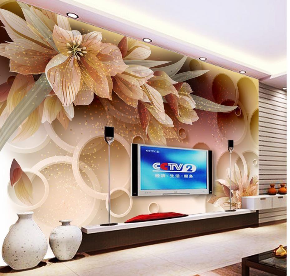 Alta qualità Personalizza dimensioni Carta da parati moderna murales carta da parati Fiori fantasia 3D parete TV stereo