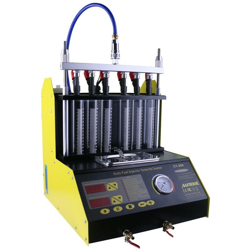 CT200 gasonline 6/4 cilindro Coche Motocicleta Auto Inyector ultrasónico Máquina de prueba de limpieza 220/110 V Mejor que el lanzamiento CNC602A Injector Cl