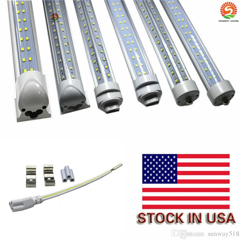 72W Led Tube T8 8ft FA8 Single Pin G13 R17D Integrated Double Sides SMD2835 Led Light Tubes 8 foot UL AC85-265V
