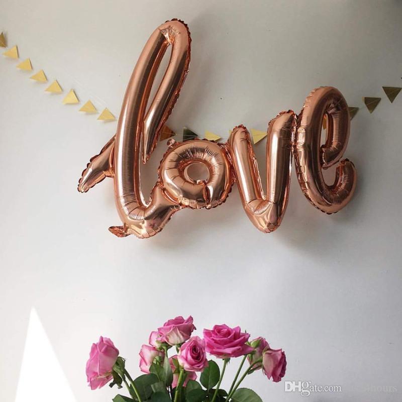 Ligaturen Love Champagne Red Balloons Aluminiumfolie Heliumballons Geburtstag Hochzeit Valentinstag Partyraum Wanddekoration