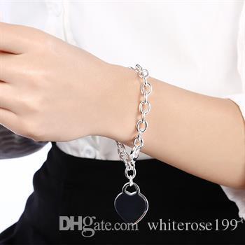 도매 - 소매 최저 가격 크리스마스 선물, 무료 배송, 새로운 925 실버 패션 팔찌 B268
