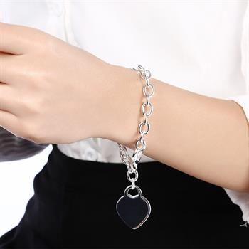 Wholesale  - 小売価格クリスマスプレゼント、送料無料、新しい925シルバーファッションブレスレットB268