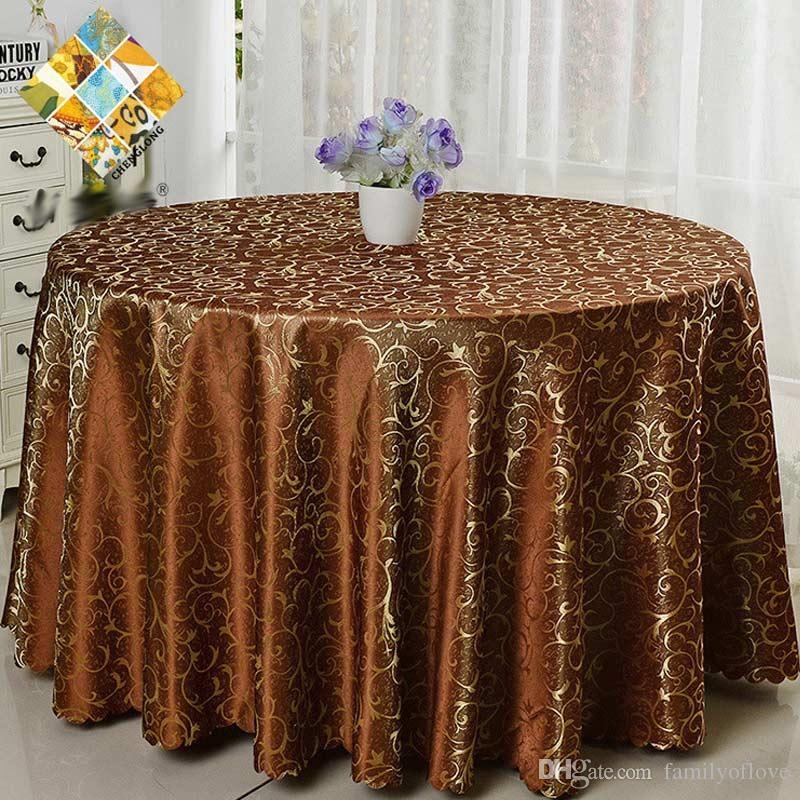 Luxurious Polyester Round Table Cloth Rectangular Tablecloth Hotel Party  Wedding Tablecloth Machine Washable Fabric Cloth Table Dining Table Cover  Outdoor ...