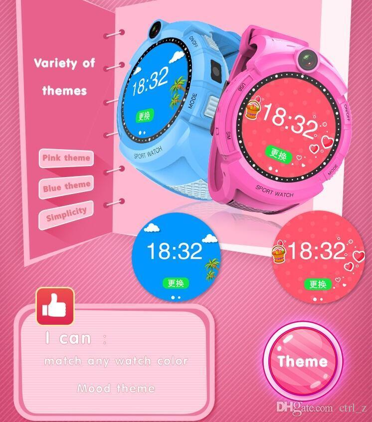 Q610 Kid Smart watch Base de la cámara Ubicación Pantalla táctil Child Wrist Band APP SOS Monitor Anti-Lost Baby Brecelet Reloj inteligente Localizador de GPS