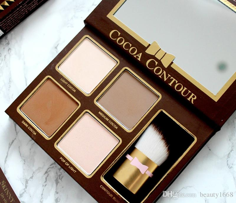 New COCOA Contour Highlighters Palette Makeup Nude Color