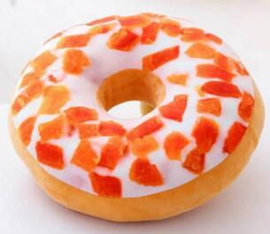 Doughnut Shaped Ring Stuffed Pillow Plush Soft Cushion Toy Colorful Donut Pizza Cushion Decorative Pillow Chair Sofa Seat Accessory
