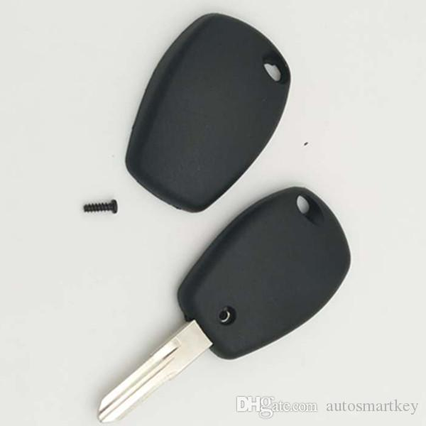 Auto key replacement shell spare key cover for renault transponder key blank case FOB