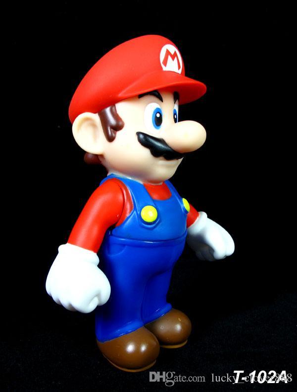set kids Cartoon Super Mario bros brothers yoshi luigi bowser wario PVC Action figures figurines Model dolls Toy Gift