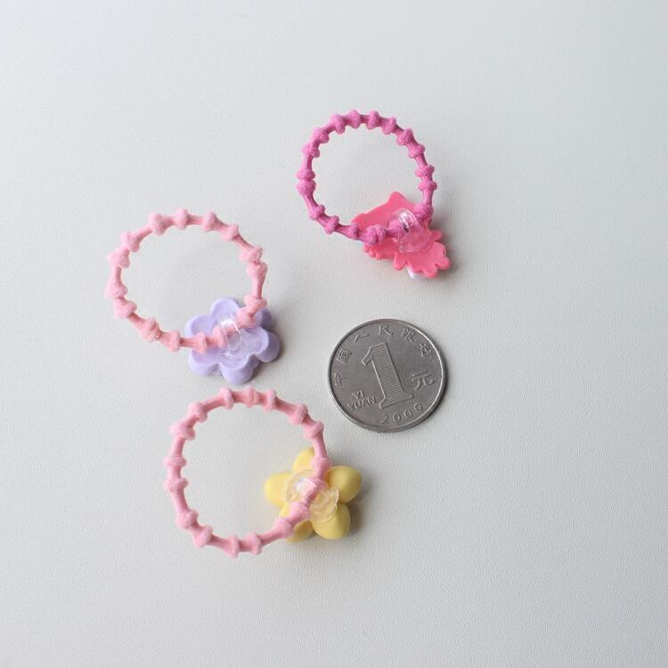 Ten On Small Rubber Ring Slub Baby Hair Headdress Headdress Flower ...