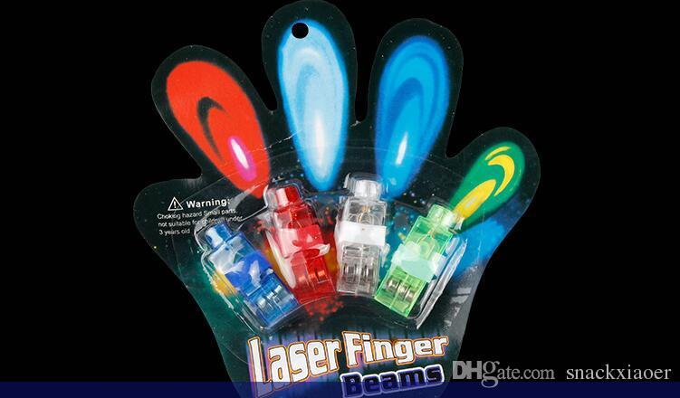 Luzes LED Anel de Dedo Novidade Luzes Brilho de Laser Dedo Vigas Partido Flash Kid Brinquedos 4 Cores Presente de Natal livre DHL