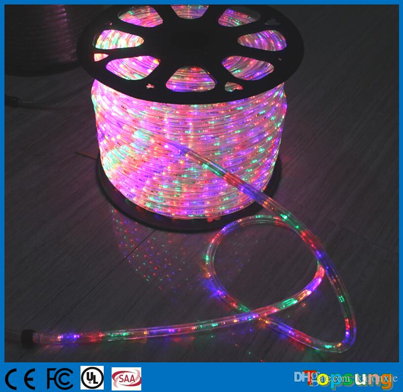 100m Spool Chasing Led Rope Light 12v 24v 3 Wire Round