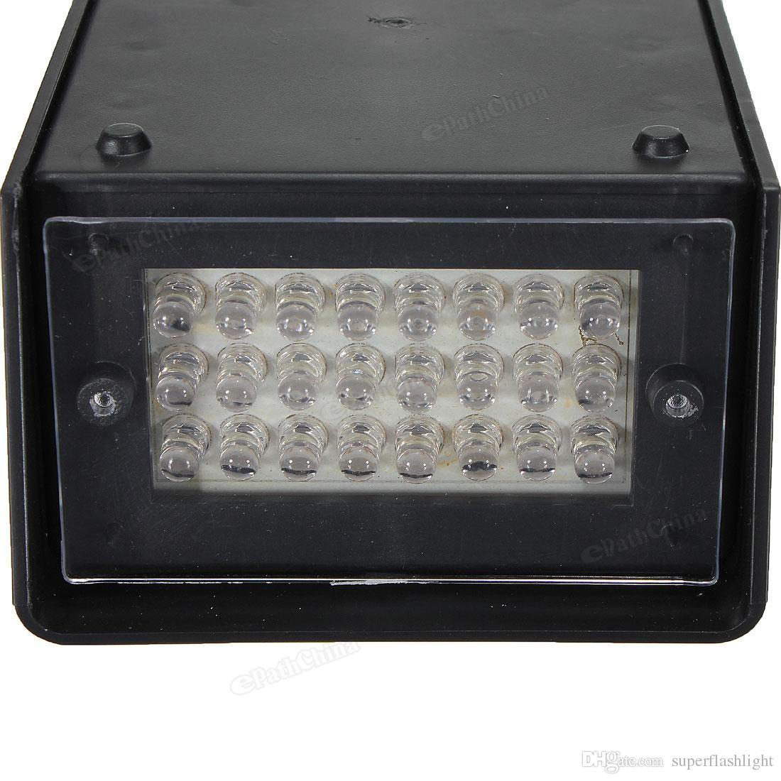 24 LED Strobe White Lights DJ Disco Operated Party Stage Lighting Effect Variable Flash Rate LEG_907