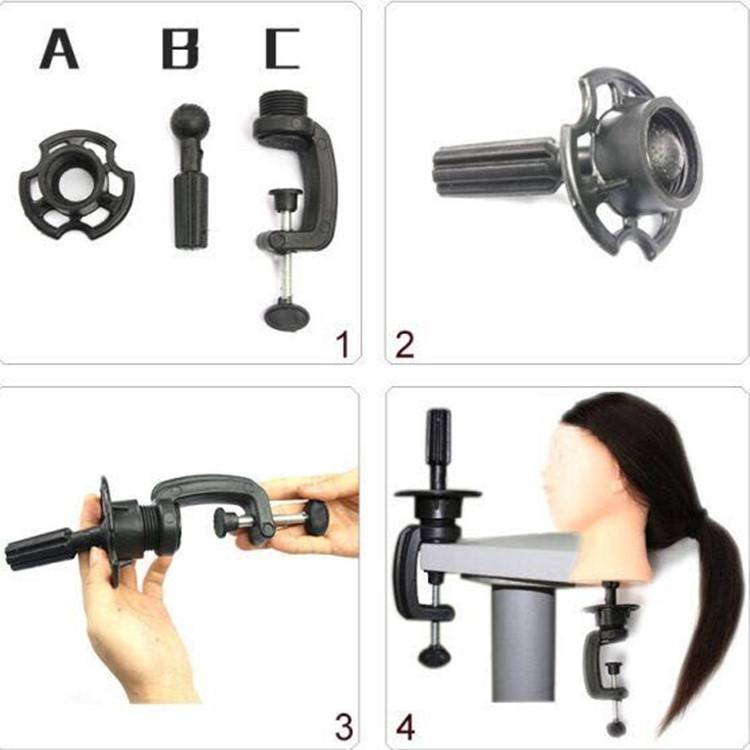 Wig tools Adjustable Training Head Table Clamp Mannequin Head Holder Tool Wig Stands Salon Hair Extension Beauty Tools Wig Stand