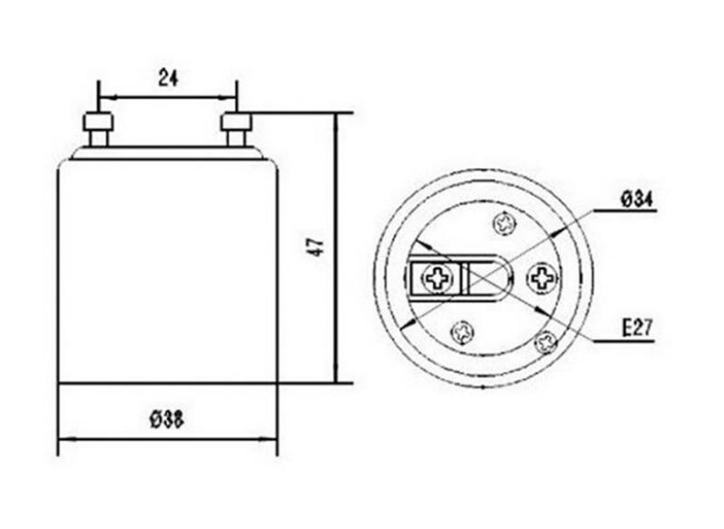 GU24 auf E27 Lampensockel Fassung Adapter, GU24 Stecker auf E27 Buchse Konverter für LED-Lampen