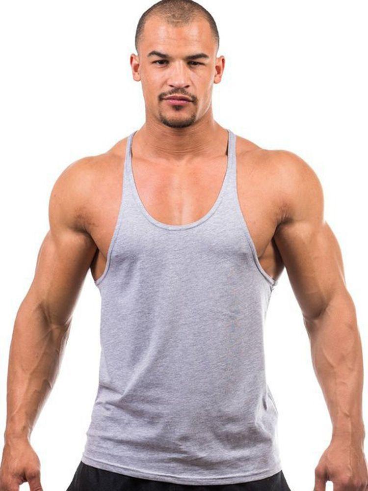 Factory direct sale ! Cotton Stringer Bodybuilding Equipment Fitness Gym Tank Top shirt Solid Singlet Y Back Sport clothes Vest