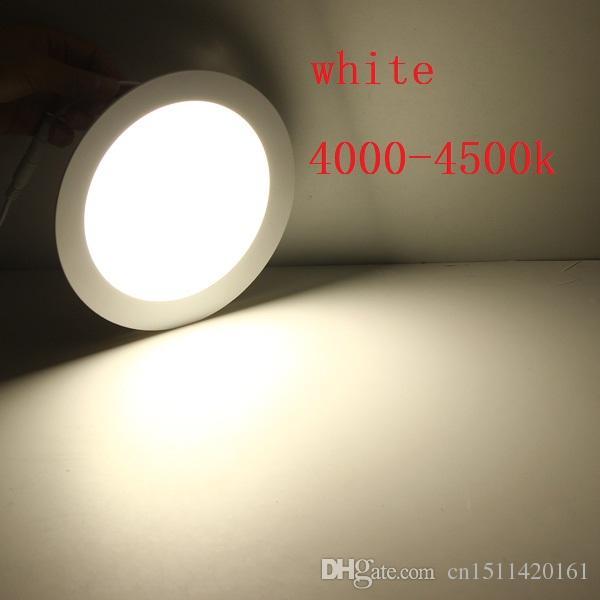 Envío libre de DHL llevó la luz de techo ultra delgada del panel 2835SMD 3W 6W 9W 12W 15W 25W lámpara 85 ~ 265V + conductor