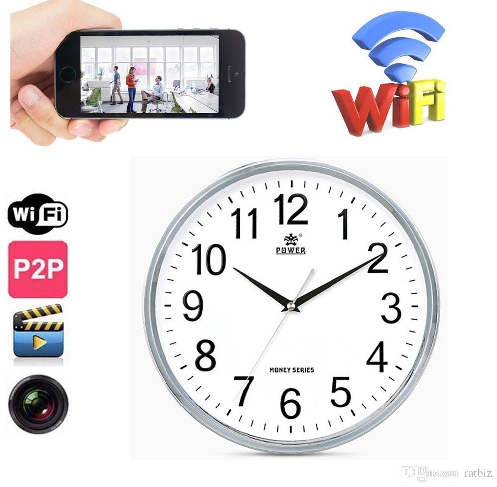 16gb memory built in 1280720p hd wifi wall clock camera home 12 amipublicfo Images