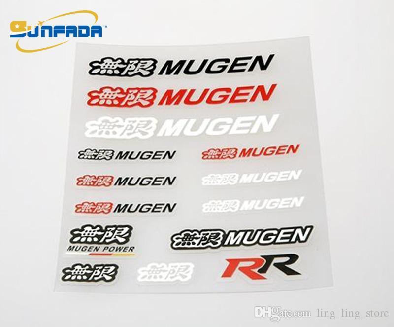 SUNFADA Car-Styling Mugen Power Sticker Calcomanías Etiqueta Engomada Del Coche Para Mugen Honda Accord Civic FIT Jazz CITY ODYSSEY