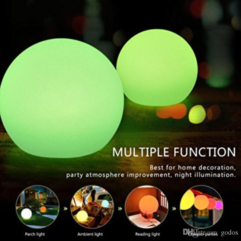 Best Rechargeable Led Ball Light, Bedroom Decorative Remote Control Lamp,  Christmas Halloween Party Flash Strobe Lamp, Rgb Color Ip65 Waterproof  Under ...