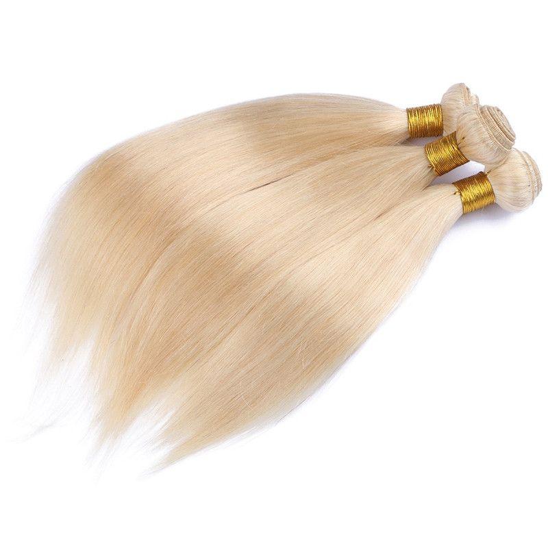 613 Blonde Virgin Hair 8A Blonde Brazilian Virgin Hair Straight Lot Brazilian Virgin Cheap Human Hair Weave Bundles
