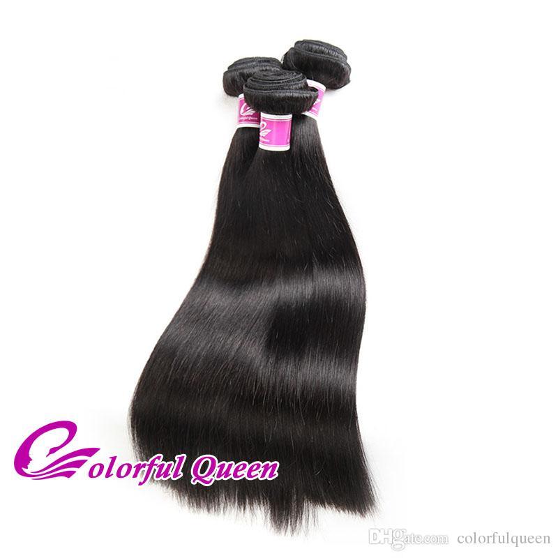 Straight Indian Virgin Hair 7A Grade Virgin Unprocessed Human Hair Weave Straight Cheap Raw Indian Hair Bundles Deals Wholesale