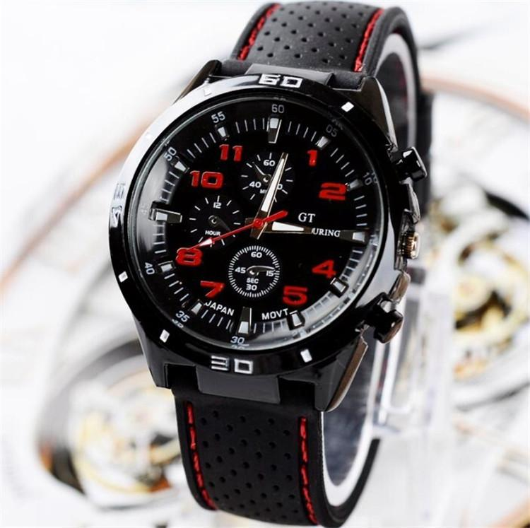 d7dd77097485 Compre Lujo GT Grand Touring Hombres Reloj Mens Relojes Militares GT Marca  Sport Silicone Strap Relojes De Pulsera Reloj De Pulsera De Cuarzo De Moda  Para ...