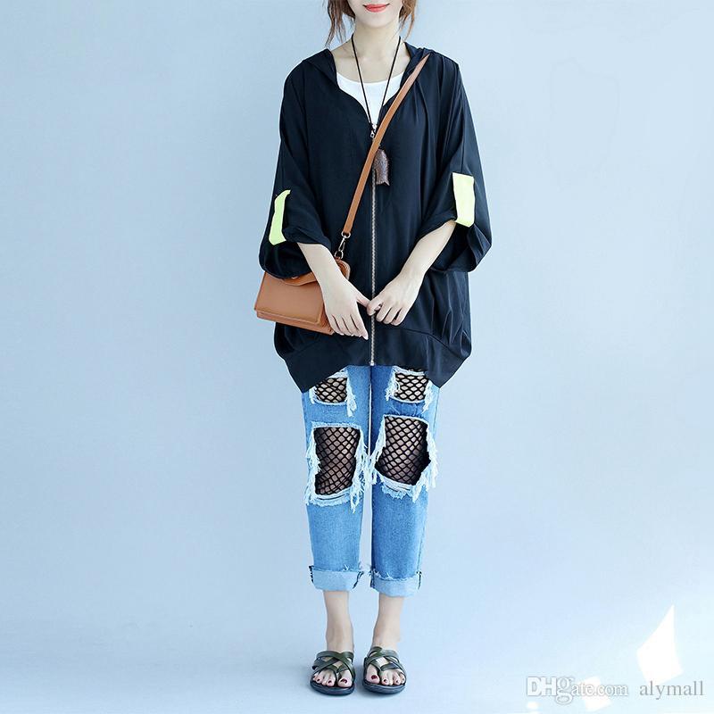 1eab0475266 Autumn Bomber Jacket Women Plus Size Korean Style Big Size Boyfriend Jacket  Female Large Size Ladies Jacket Coat Black Kids Leather Jackets Cheap  Jackets ...