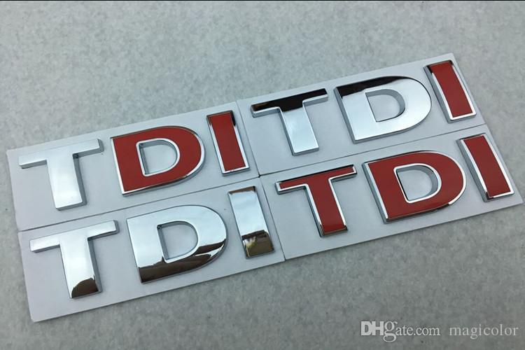 Car D TDI Badge Emblem Decal Sticker Logo For VW Golf JETTA - Best car sticker logo