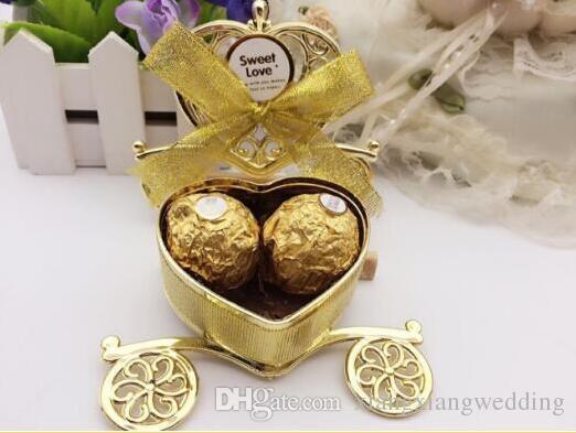 Love Carriage Wedding Box Party Favours Gift Candy Chocolate Box Gold and Silver Box for Wedding Baby Birthday Party
