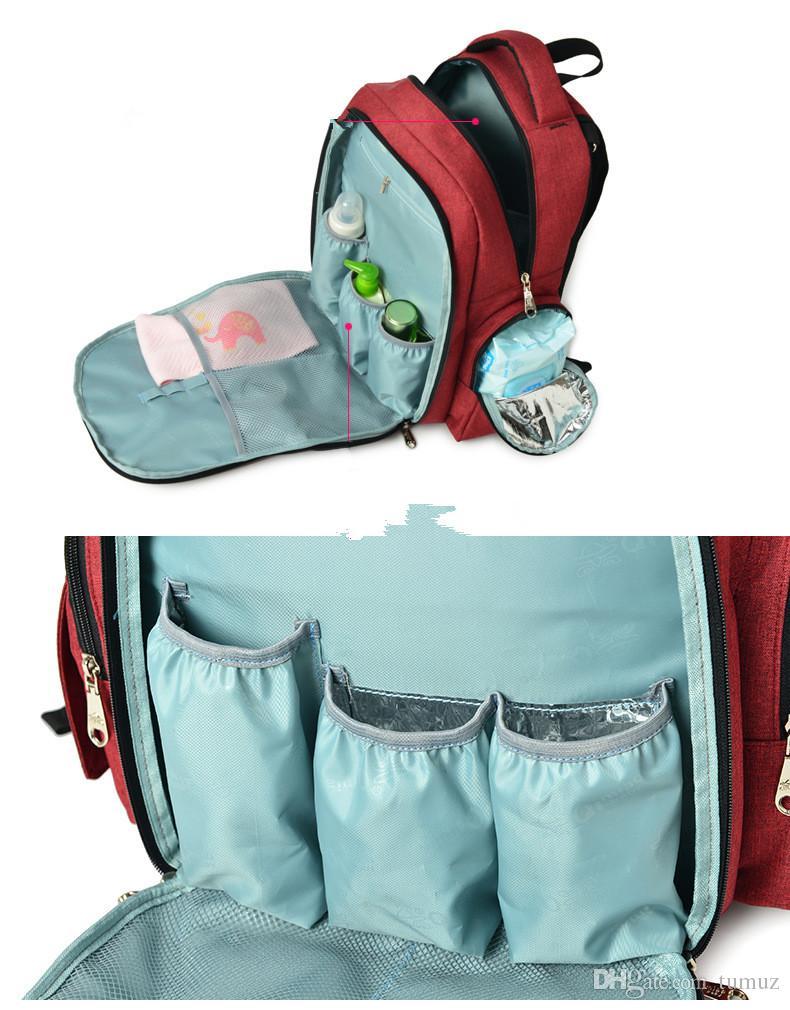 Mummy Bag Borsa a spalla multi-funzionale grande capacità 2017 nuovo sacchetto materna vasca, isolamento, borsa impermeabile