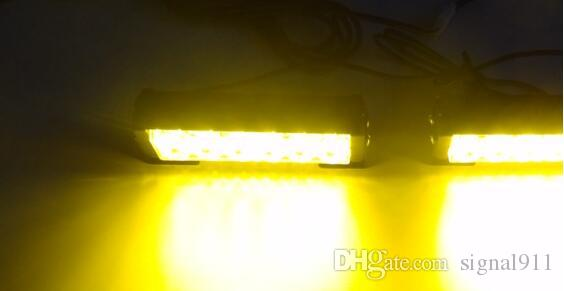 DC12V 2units 6W führte Autogrill Notbeleuchtung, Strobe Warnlicht mit Schalter für Polizei Krankenwagen Feuerwehrmänner, wasserdicht, /
