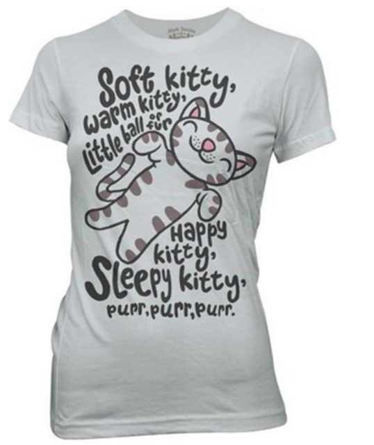 Wholesale Big Bang Theory Soft Kitty Letter Print T Shirts For ...