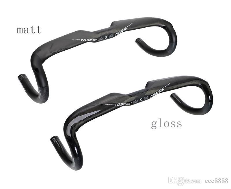 2017 TOSEEK Road bike handlebar 31.8X400/420/440MM UD matte/gloss 240g lightest Carbon Handlebar