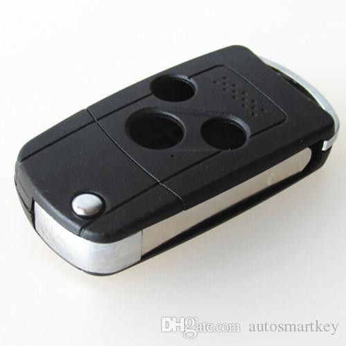 Nuova auto sostituzione chiave Caso in bianco 3 tasti modificate vibrazione che piega chiave a distanza della copertura delle coperture FOB Honda