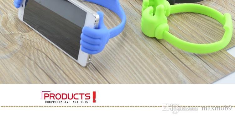 Yeni evrensel Dağı cep cep telefonu Mounts Tutucular Tembel Dirsek perakende paketleri ile Iphone 6 S 7 ARTı başparmak için moda tasarım standları