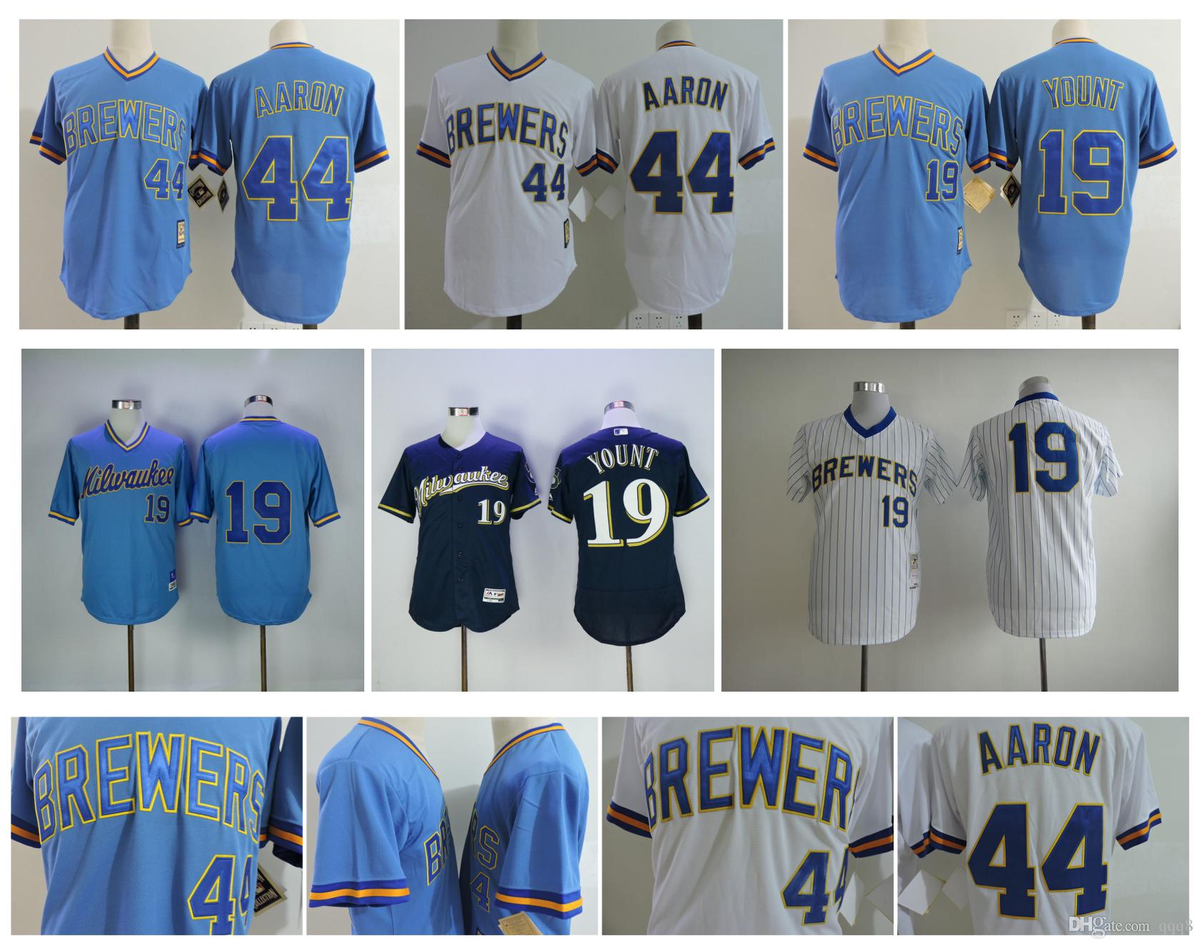 premium selection 7bed1 4a494 low price hank aaron milwaukee brewers jersey 79d12 4b3b7