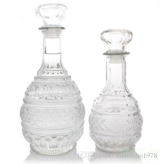 New High Quality 500ml 1000ml Crystal Whiskey Wine Shot Glass Bottle With Cap Stopper Drinking Bar Decanter J1086