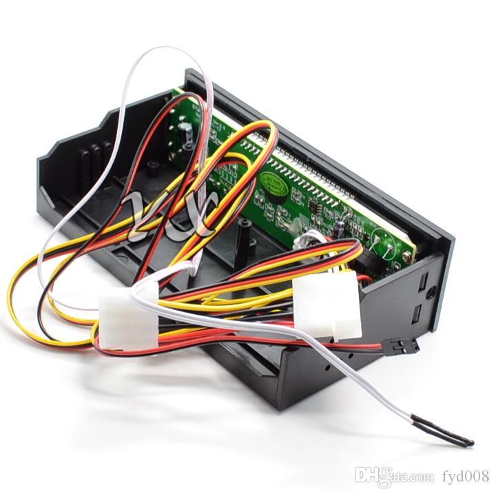 Regolatore di velocità della ventola del controller della ventola STW-5023 Pannello frontale del telaio dell'unità ottica 3 Termostati del radiatore computer a 12 pin a 3 pin