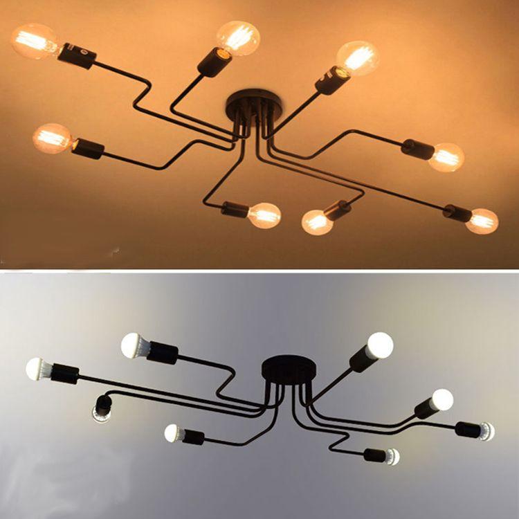Personnalité plafonnier lampe à suspension en rotin vintage lumières led long fer accrocher lampes plafonniers luminaires, personnalisation de la lampe
