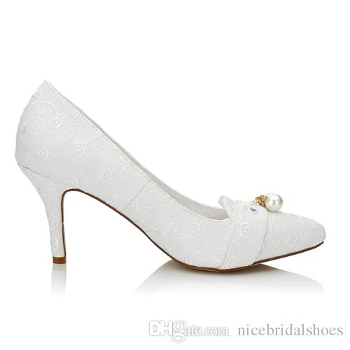 Handmade Pointy Shoe Women Wedding Shoes evening shoes High Heel Bridal Shoes Party Prom Women Shoes bridal shoes Size from 35 to 42