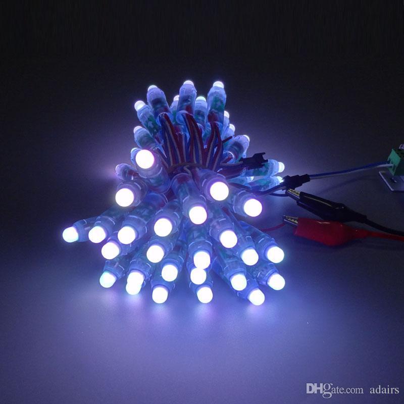12mm WS2811led 화소 단위,IP68 방수 DC5V 풀 컬러 RGB문자열 크리스마스 LED 빛 주소 지정 가능한 새로운 ws2801