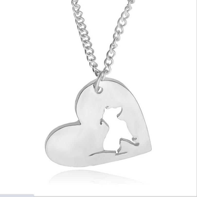 Wholesale wholesale pitbull necklace pendant pit bull heart pendant wholesale wholesale pitbull necklace pendant pit bull heart pendant dog memorial pet necklaces pendants women animal charms christmas gift silver heart aloadofball Image collections