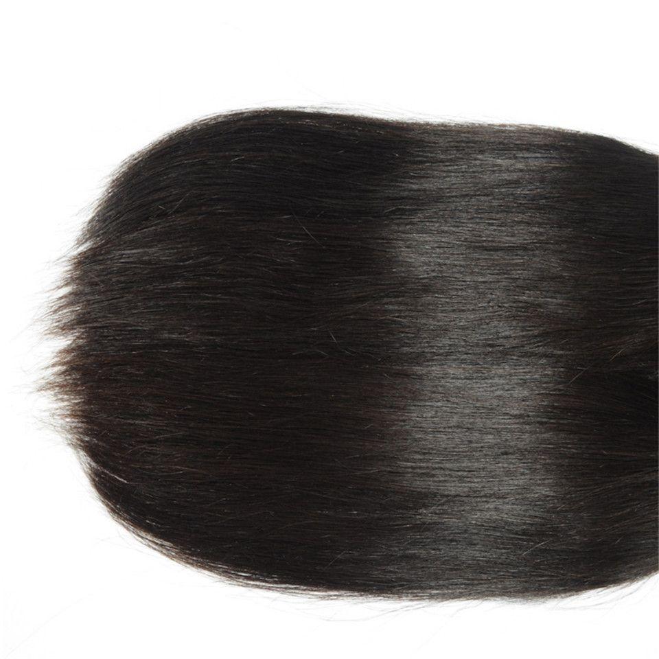 3Bundles Virgin dei capelli peruviani capelli lisci Tessiture Lordo umani tesse Remy estensioni dei capelli umani tingibili / nessun spargimento