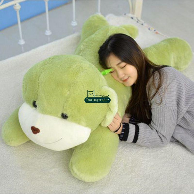 Dorimytrader fofinho macio dos desenhos animados cão de pelúcia brinquedo grande recheado anime cães anime travesseiro presente de Natal 47 polegadas 120 cm DY61838