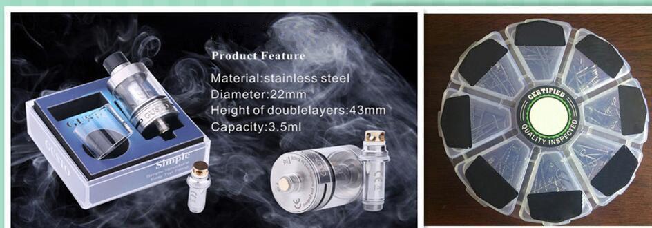 Электронные сигареты аксессуары электронные сигареты катушки мини электронные сигареты атомайзер ядро 3 мл емкость нержавеющей стали горячие продажи Оптовая