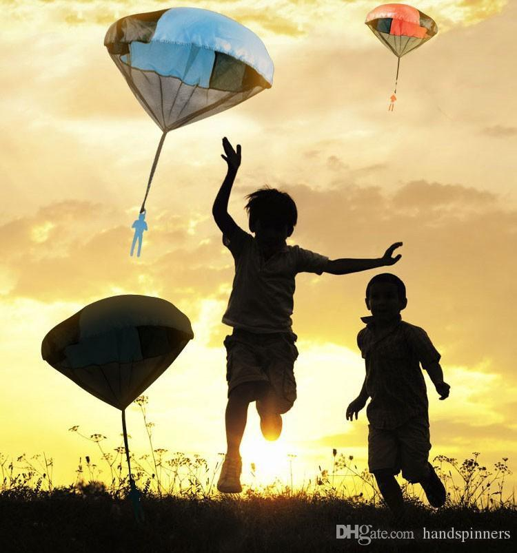 NEW Hand Throwing Kids Mini Play Parachute Toy Soldier Outdoor Sports Children's Educational Toys Outdoor Toys Candy Color DHL