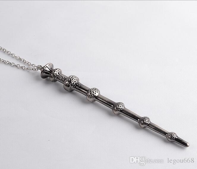 새로운 공장 직접 공급 너무나 덤블도어 해리의 마법 지팡이 마술 지팡이 합금 목걸이 키 체인 맥시 목걸이 빈티지 G128