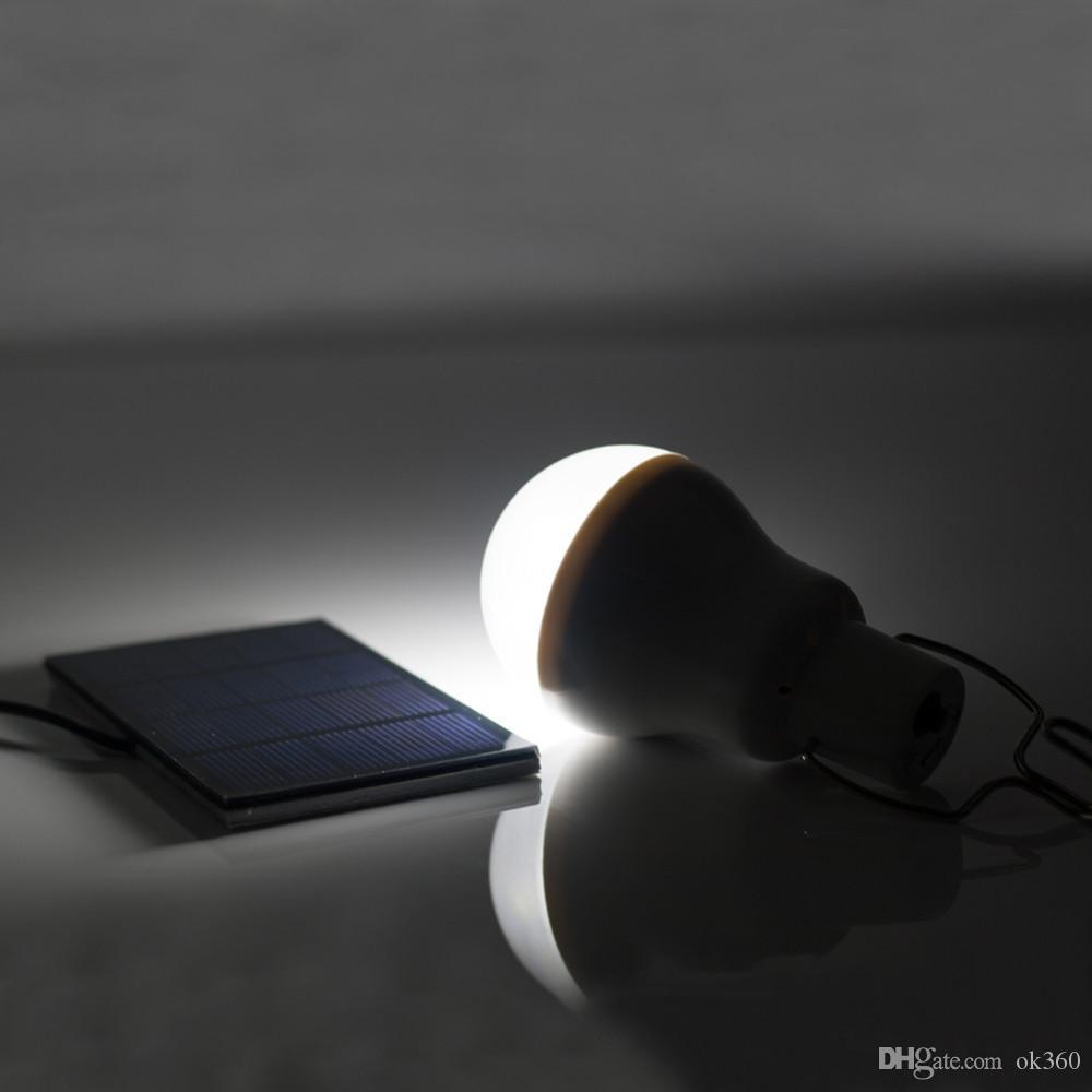15W 130LM 휴대용 태양 전원 LED 전구 램프 태양 전지 패널 적용 가능한 야외 조명 캠프 텐트 낚시 램프 정원 조명