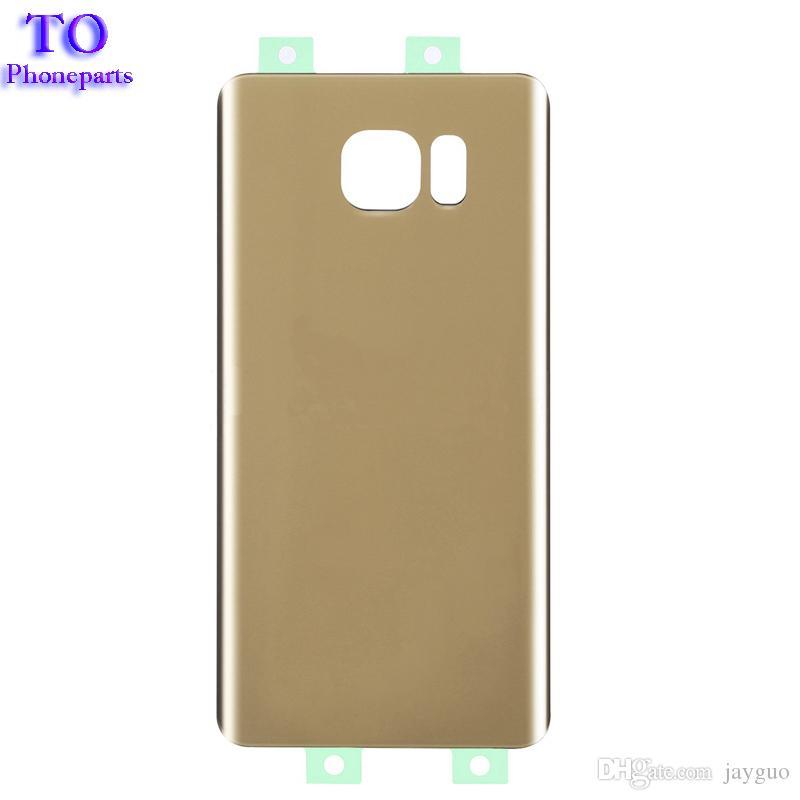 Arka Cam Pil Kapı Kapak Samsung Galaxy Not 5 N920 N920F Adhensive Ücretsiz Kargo ile Arka Konut Değiştirme