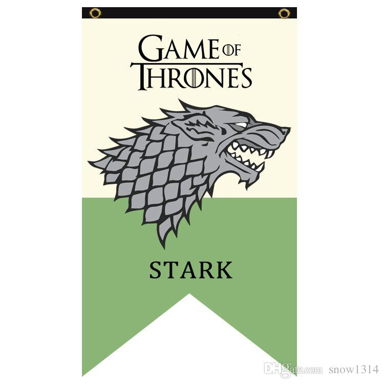2018 Game Of Thrones Flag House Stark Banner 75cm*125cm Polyester Custom  Banner Sports Flag From Snow1314, $8.05 | Dhgate.Com